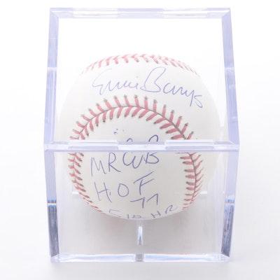 Ernie Banks HOF Autographed Rawlings Baseball with JSA COA