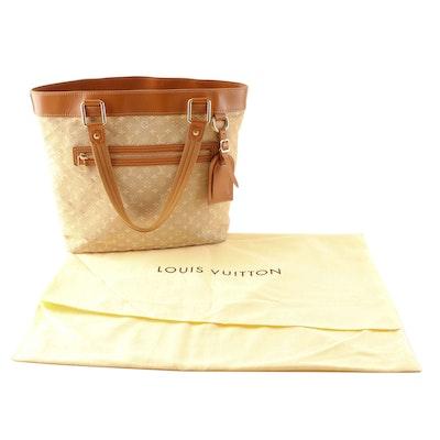Louis Vuitton Lucille Tote Bag in Beige Monogram Mini Lin Canvas