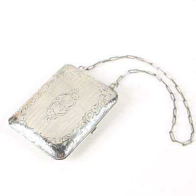 Clarence A. Vanderbilt Sterling Silver Monogrammed Calling Card Purse