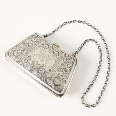 R. Blackinton & Co. Sterling Silver Monogrammed Coin Purse
