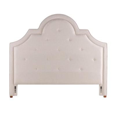 """Ballard Designs """"Ally"""" Linen Upholstered Queen Headboard"""