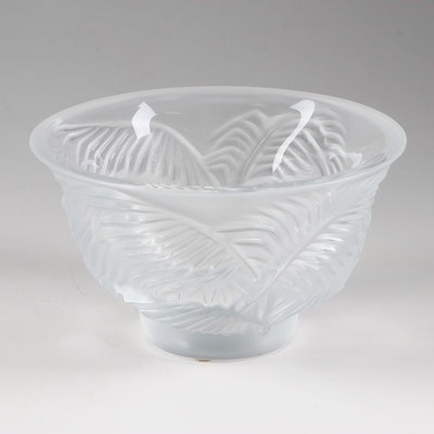 """Lalique Crystal """"Palm Tree"""" Bowl, Late 20th Century"""