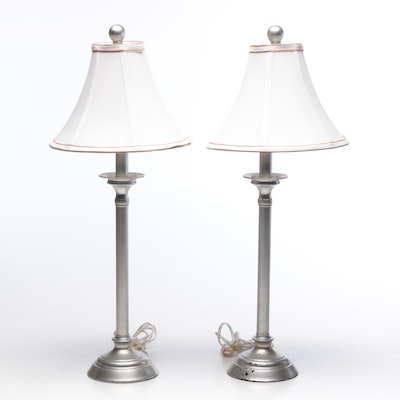 Silver Finish Metal Table Lamps