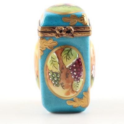 Limoges Hand-Painted Porcelain Limited Edition Decorative Fruit Trinket Box