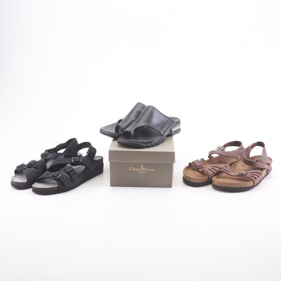 Birkenstock, Mephisto, and Cole Haan Leather Sandals