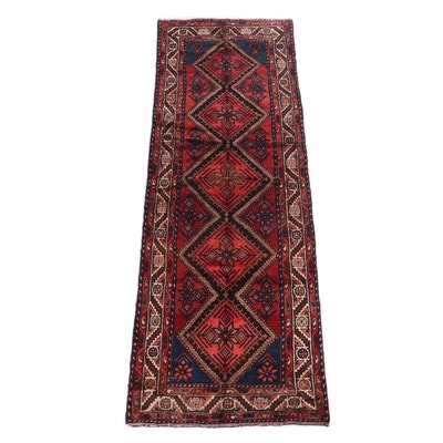 Hand-Knotted Persian Hussainabad Wool Carpet Runner