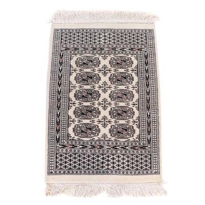 Hand-Knotted Pakistani Bokhara Wool Rug
