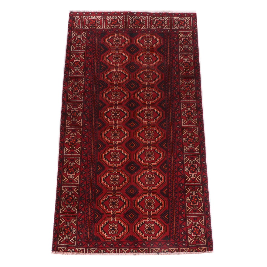 Hand-Knotted Afghan Wool Rug