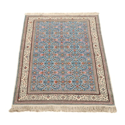 Hand-Knotted Turkish Kayseri Wool and Cotton Rug
