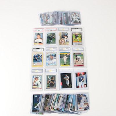 Baseball Rookie Cards Including 1993 Derek Jeter SP, Mike Trout, Aaron Judge