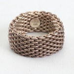 Tiffany & Co. Sterling Mesh Ring