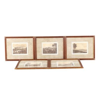 Offset Lithograph Landscape Collection
