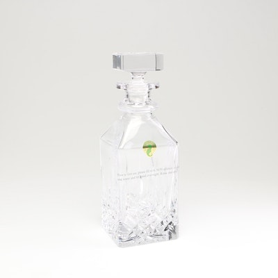 "Waterford Crystal ""Lismore"" Classic Square Decanter"