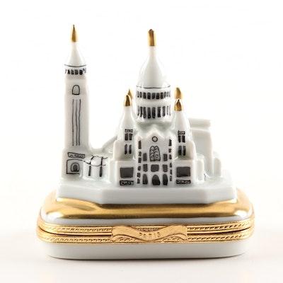 Limoges Hand-Painted Porcelain Le Sacré-Cœur Montmartre Trinket Box