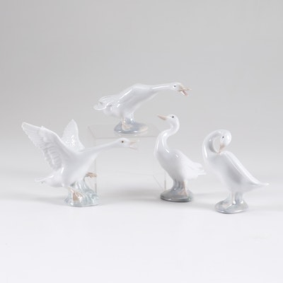 Lladró Porcelain Duck Figurines