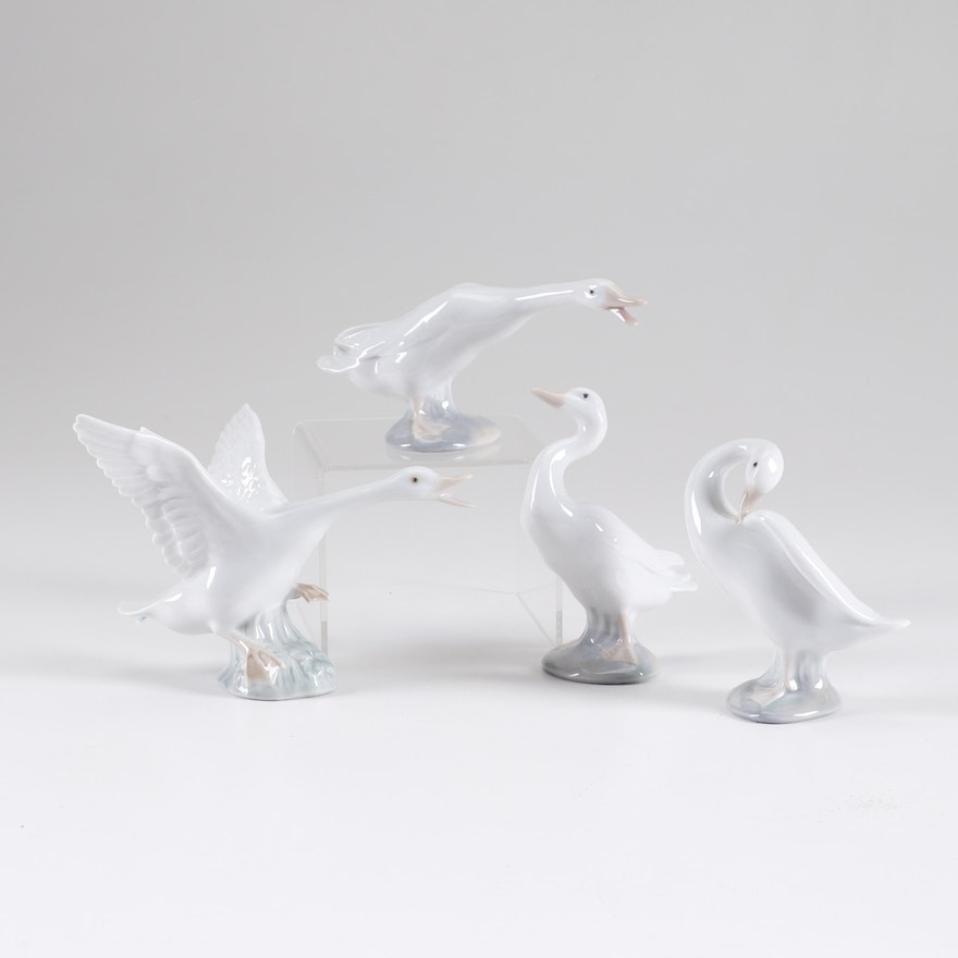 Lladró Porcelain Duck Figurines