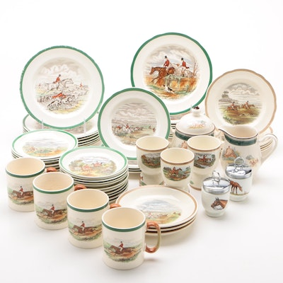 "Spode ""Herring Hunt"" and Other Ceramic Dinnerware"