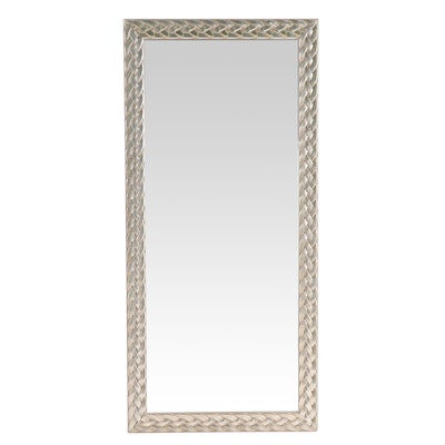 """Silver Painted """"Enchanté"""" Dressing Mirror for Sheffield Home"""