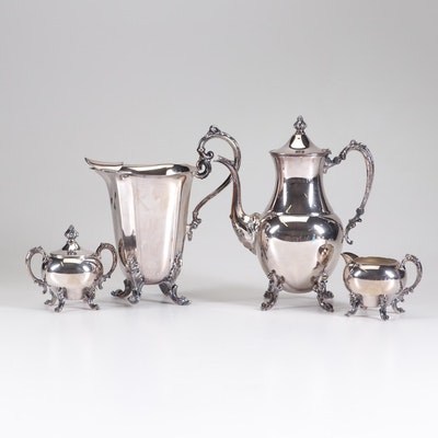 Sheridan Silver Co. Silver Plate Coffee Service with Iced Water Pitcher