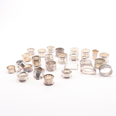 Antique Sterling Silver and Plated Napkin Rings