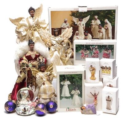 Holiday Ornaments, Nativity Figurines and Snow Globe Including Thomas Blackshear
