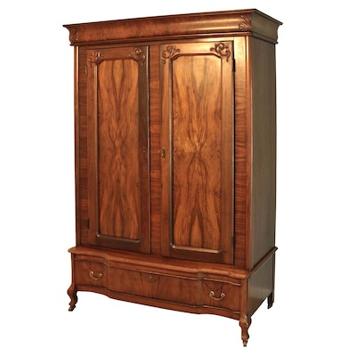 Louis Philippe Transitional Style Knock Down Armoire, 19th Century