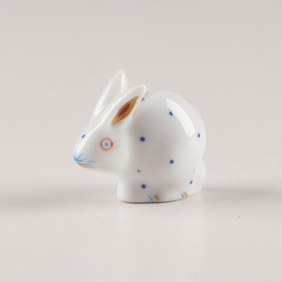 Herend Porcelain Polka-dot Miniature Rabbit