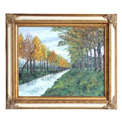 L. Heide Landscape Oil Painting
