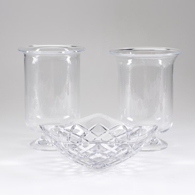 Tiffany & Company Crystal Serving Bowl and Glass Vases