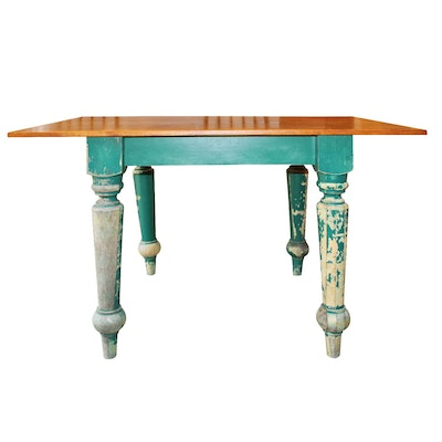Weathered Contemporary Farmhouse Style Dining Table