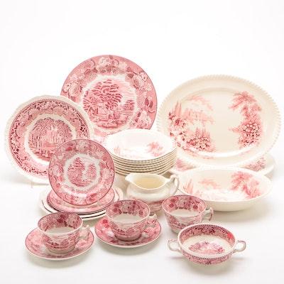 English Landscape Scene China and Ironstone Dinnerware