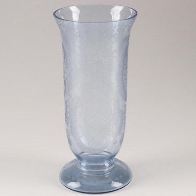 Egermann Style Czechoslovakian Cut Glass Vase