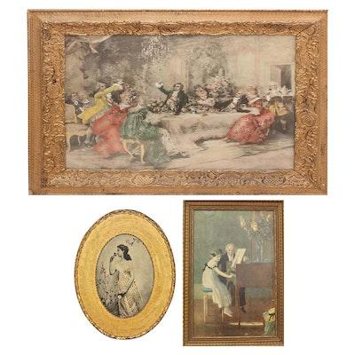 "Embellished Photomechal Prints Including ""The Music Master"""