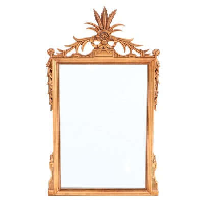 Neoclassical Style Gilt Wall Mirror, Mid to Late 20th Century