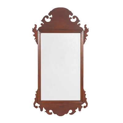 Chippendale Style Beveled Wall Mirror