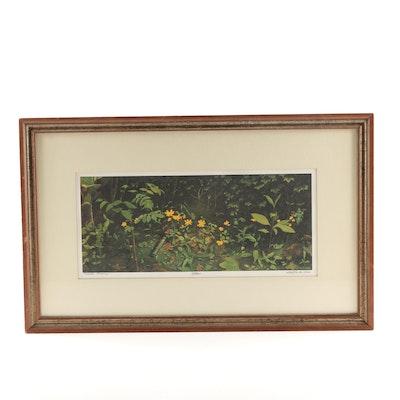 "Bob Timberlake Offset Lithograph ""Woods Flowers"""