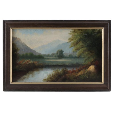 20th Century Landscape Oil Painting
