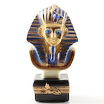 "Limoges Hand-Painted Porcelain Limited Edition ""Tutankhamun"" Figurine"