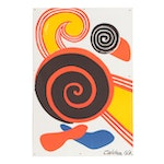 "Lithograph after Alexander Calder ""Spirals"""