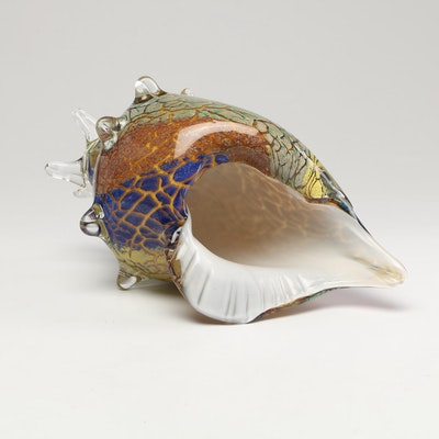 Glass Conch Shell Figurine