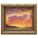 "Jeff Love Oil Painting ""Blend to Sunset"""