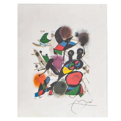 "Offset Lithograph after Joan Miró from ""Lithographs: Volume III"""