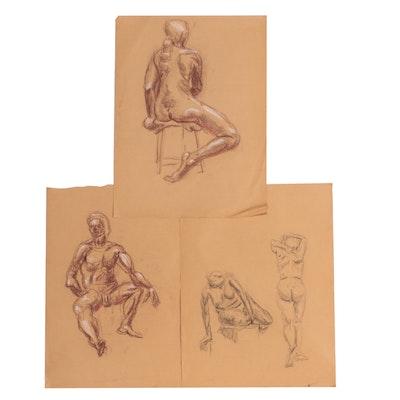 Conté Crayon Figure Studies