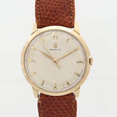 Vintage Rolex 14K Yellow Gold Wristwatch, 1954