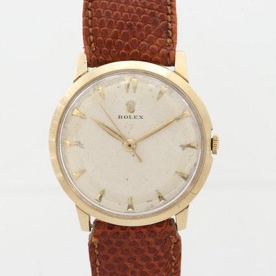Vintage Rolex 14K Yellow Gold Wristwatch, 1954