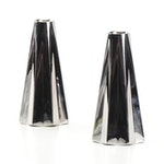 "Georg Jensen ""Supernova"" Stainless Steel Candleholders Designed by Rebecca Uth"