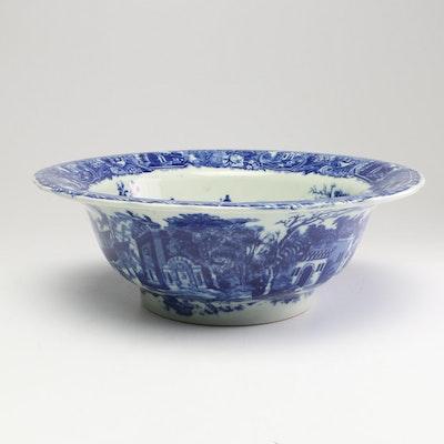 Victoria Ware Flow Blue Ironstone Bowl