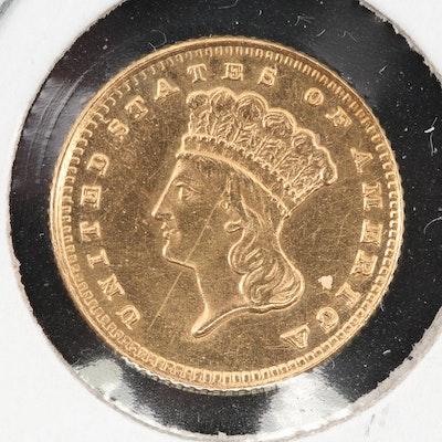 1888 Indian Princess Head Gold Dollar