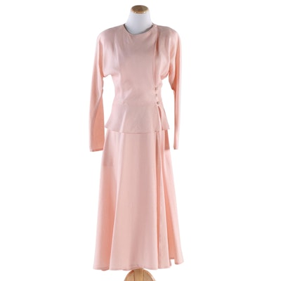 Yeohlee New York for Neiman-Marcus Shell Pink Linen Wrap Day Dress, Vintage