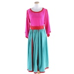 Miss O by Oscar de la Renta Silk Crepe de Chine Blouse and Poplin Dirndl Skirt